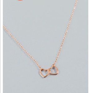 Francescas linked heart necklace in rose gold